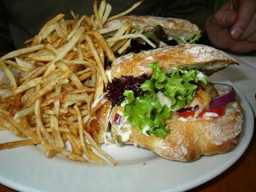 Enormous halibut sandwich