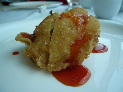 Fried scallop dumplings
