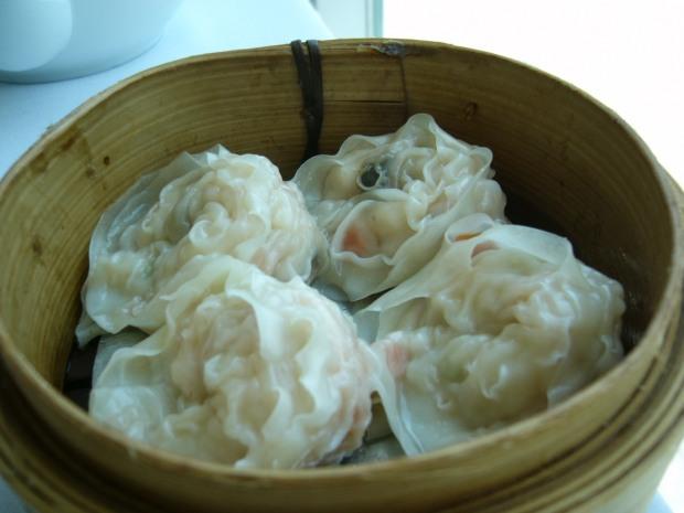 My favourite: the steamed scallop dumplings
