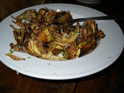 Crispy artichokes at Palma