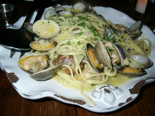 Linguine vongole from Palma in New York