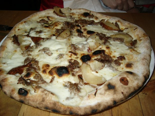 Duck confit pizza at Pizza Libretto