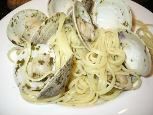 My home-cooked linguine with clams