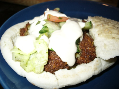 Falafel from Jerusalem restaurant in Toronto
