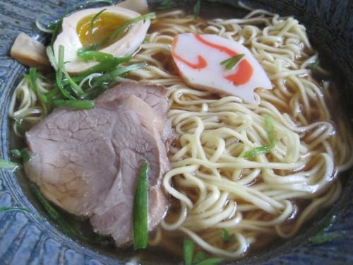 Kenzo's Sho-yu Ramen with Fatty Pork and Quail (?) Egg