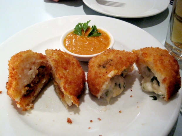 Crunchy on the outside, creamy on the inside arancini from Carluccio's