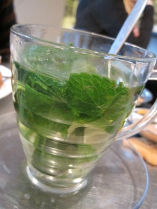Mint tea at Café Het Paleis