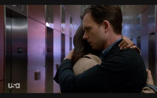 mike & rachel hug